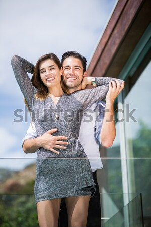 Sonriendo los brazos cruzados retrato blanco Foto stock © wavebreak_media