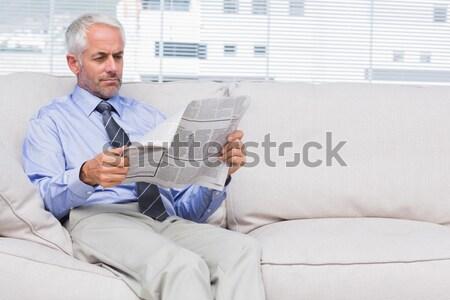Man talking to her psychologist Stock photo © wavebreak_media