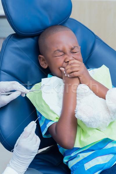 Stock fotó: Közelkép · fiú · fogak · férfi · gyermek · szerszámok