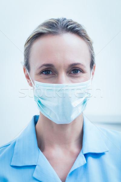 Kadın dişçi cerrahi maske portre kadın Stok fotoğraf © wavebreak_media