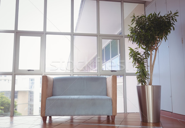 Reception area with couch and window Stock photo © wavebreak_media