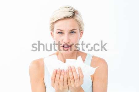 Beteg nő tart néz kamera fehér Stock fotó © wavebreak_media