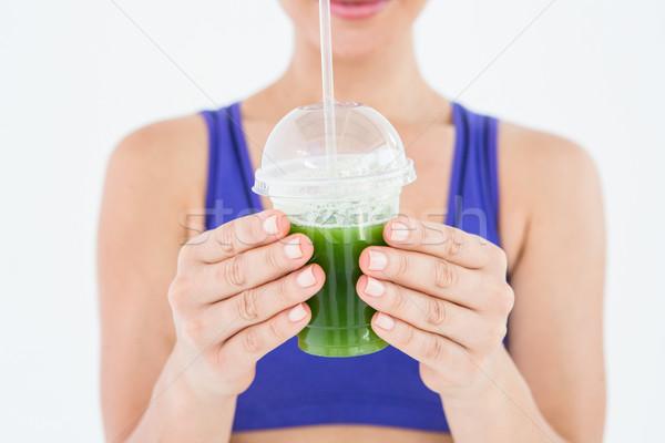 Mulher verde suco feliz saúde Foto stock © wavebreak_media