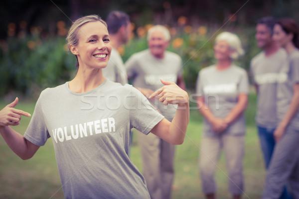 счастливым футболки Сток-фото © wavebreak_media