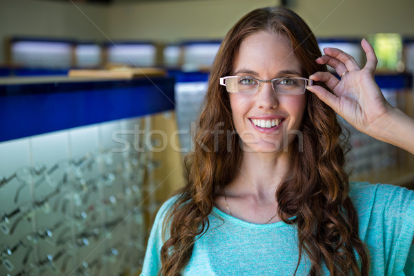 Pretty woman shopping for new glasses Stock photo © wavebreak_media