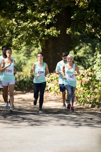 Marathon athletes running in the park Stock photo © wavebreak_media
