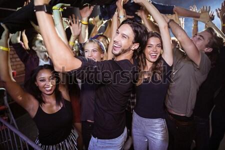 Portret znajomych festiwal muzyczny nightclub kobieta Zdjęcia stock © wavebreak_media