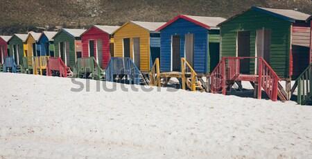 Közelkép színes tengerpart otthon fitnessz kék Stock fotó © wavebreak_media