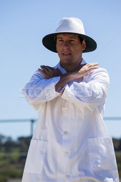 Cricket umpire signaling cancel call sign during match Stock photo © wavebreak_media