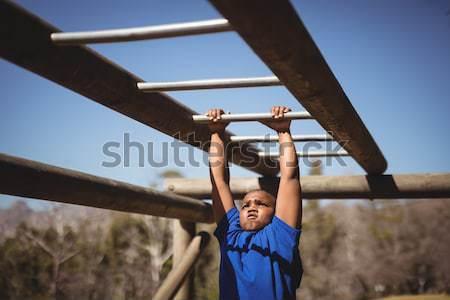 Edző lány akadályfutás képzés csizma tábor Stock fotó © wavebreak_media