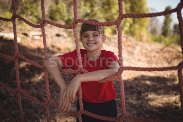 Portret dziewczyna stałego netto boot Zdjęcia stock © wavebreak_media