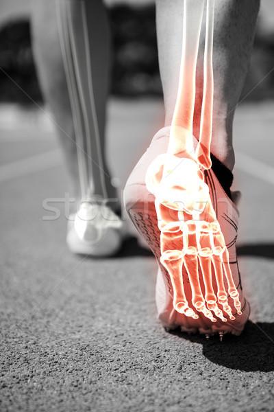 Pie huesos correr hombre compuesto digital carrera Foto stock © wavebreak_media