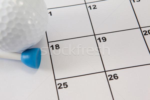 Golflabda golf naptár közelkép szeretet sportok Stock fotó © wavebreak_media