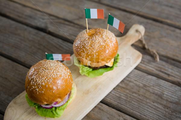 Ver irlandês bandeira servido Foto stock © wavebreak_media