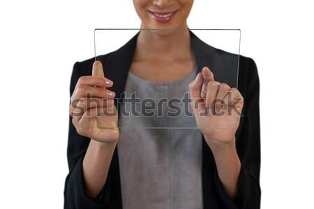 Kobiet wykonawczej cierpienie ból w krzyżu biały życia Zdjęcia stock © wavebreak_media