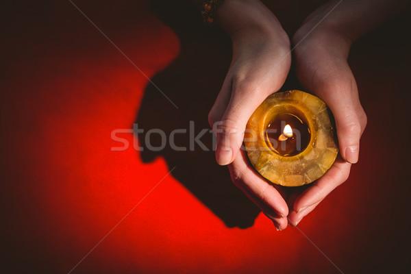 占い師 キャンドル 赤 表 女性 ストックフォト © wavebreak_media
