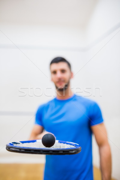 Man balancing a ball on his racket Stock photo © wavebreak_media