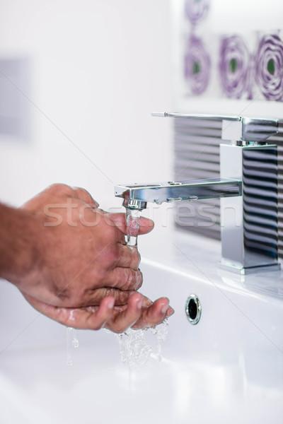 Waschen Hände läuft Wasser Seife Stock foto © wavebreak_media