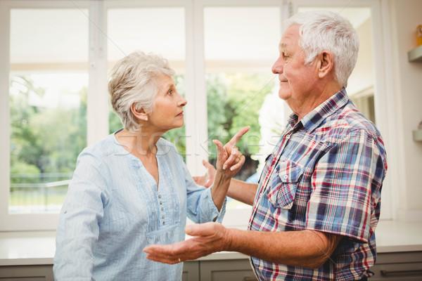 Idős pár veszekedik egyéb otthon férfi idős Stock fotó © wavebreak_media