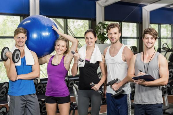 Geschikt mensen sportartikelen gymnasium handen man Stockfoto © wavebreak_media