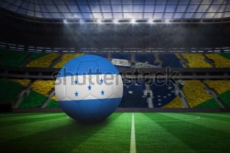 Balón de fútbol hierba verde primer plano fútbol pelota estadio Foto stock © wavebreak_media
