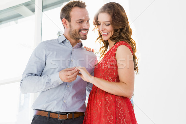Young couple holding hands Stock photo © wavebreak_media