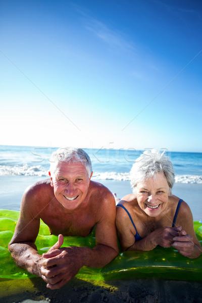 Senior couple lying on air mattress Stock photo © wavebreak_media