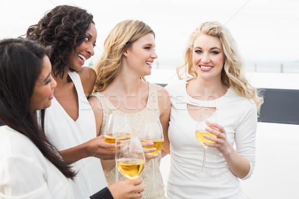 Erkekler içme şarap limuzin Stok fotoğraf © wavebreak_media