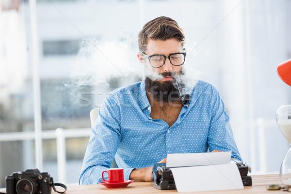 тип писателя служба человека кофе Сток-фото © wavebreak_media