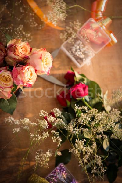 Florist accessories on table Stock photo © wavebreak_media