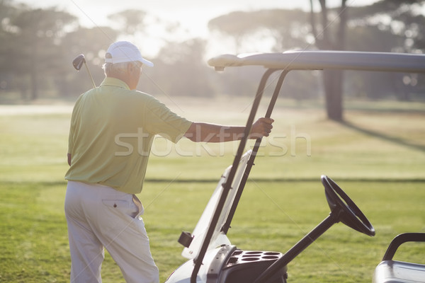 Rear view of mature man standing by golf buggy  Stock photo © wavebreak_media