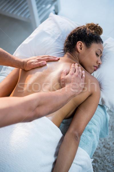 Donna indietro massaggio baby uomo femminile Foto d'archivio © wavebreak_media