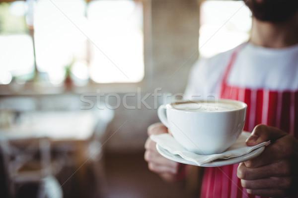 Férfi pék tart csésze kávé pékség Stock fotó © wavebreak_media