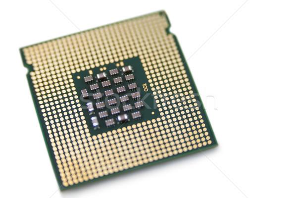 Primer plano procesador blanco tecnología comunicación digital Foto stock © wavebreak_media