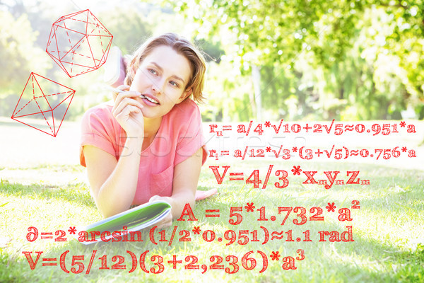 Imagen matemáticas problemas mujer naturaleza Foto stock © wavebreak_media