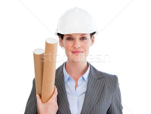 Portrait of a positive female architect Stock photo © wavebreak_media