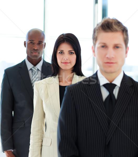 Focus команда брюнетка деловая женщина женщину служба Сток-фото © wavebreak_media