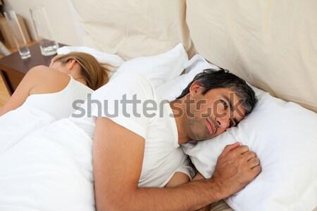 魅力的な 男 リラックス ベッド 若い男 ヌード ストックフォト © wavebreak_media