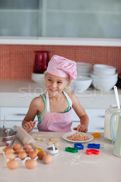 Agradable hija casa familia alimentos Foto stock © wavebreak_media