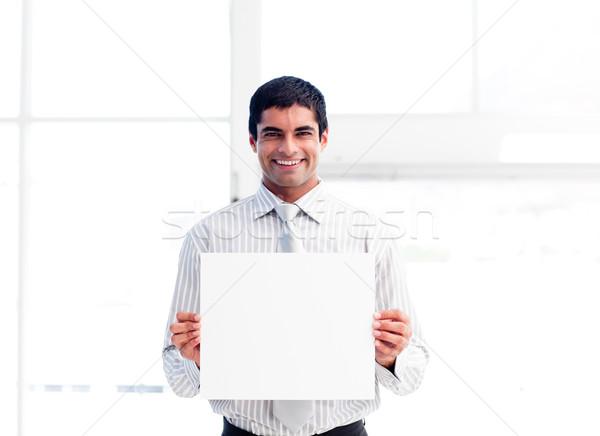 Hiszpańskie biznesmen biały karty duży Zdjęcia stock © wavebreak_media