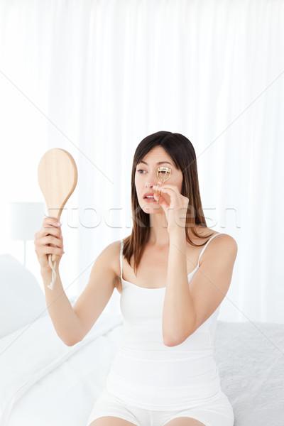 Donna ciglia spazio bagno pelle femminile Foto d'archivio © wavebreak_media
