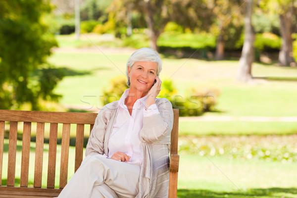 Park vrouw ouderen hoofd persoon Stockfoto © wavebreak_media