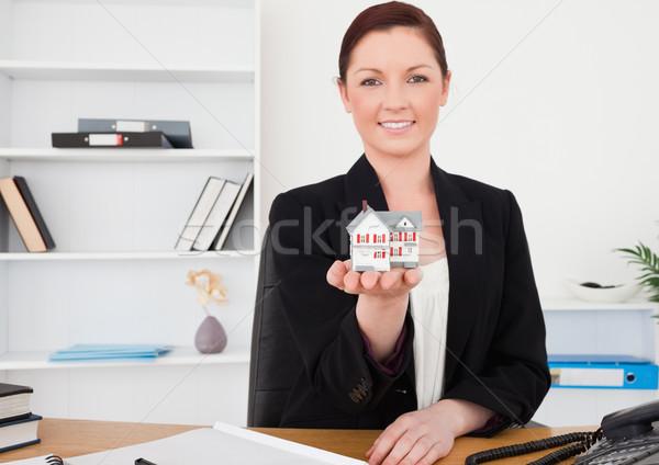 Jonge mooie vrouwelijke pak miniatuur Stockfoto © wavebreak_media