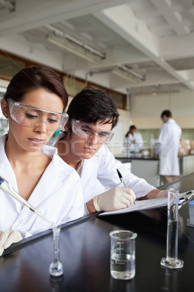 Portrait of young science students working in a laboratory Stock photo © wavebreak_media