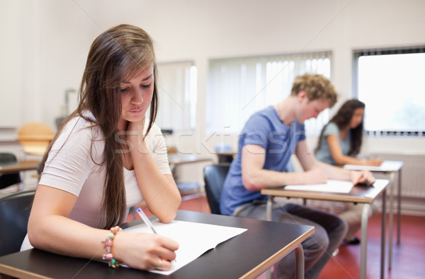 Serious young adults studying in a classroom Stock photo © wavebreak_media