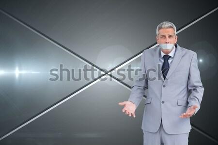 портрет красивый служащий галстук белый моде Сток-фото © wavebreak_media