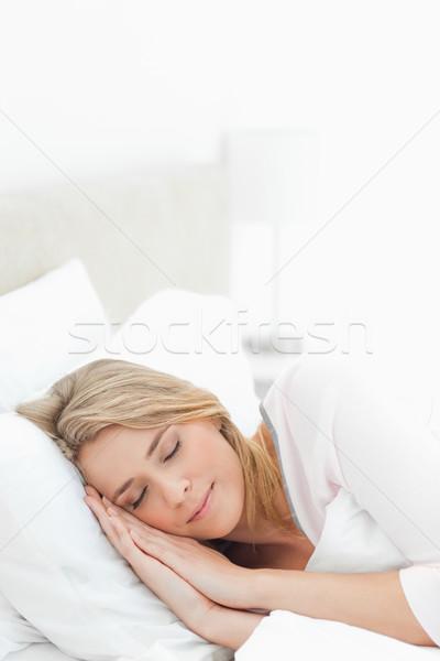 Pionowy stylu shot kobieta głowie Zdjęcia stock © wavebreak_media