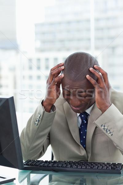 Portre yorgun ofis çalışanı ofis adam Stok fotoğraf © wavebreak_media
