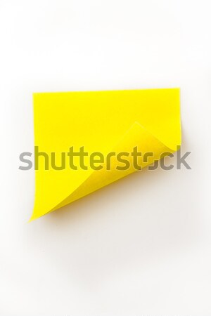 Close up of a yellow curved adhesive note Stock photo © wavebreak_media