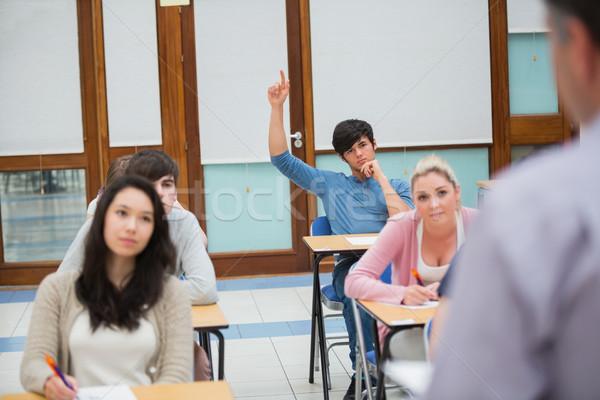 öğrenci el sormak soru kolej sınıf Stok fotoğraf © wavebreak_media